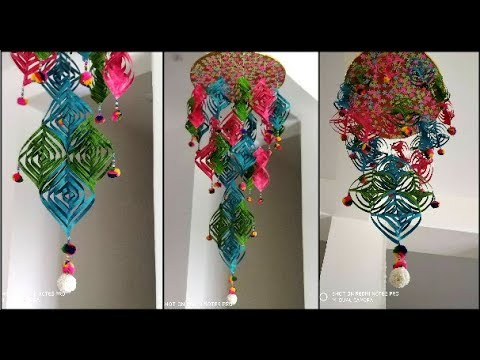 DIY - Beautiful paper wind chime | Easy home decor ideas | DIY paper crafts