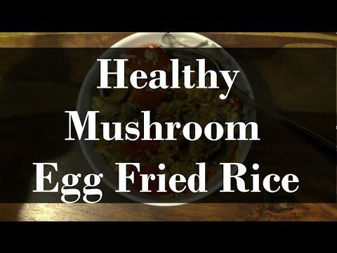 Healthy Mushroom Egg Fried Rice by Gina Phoenix
