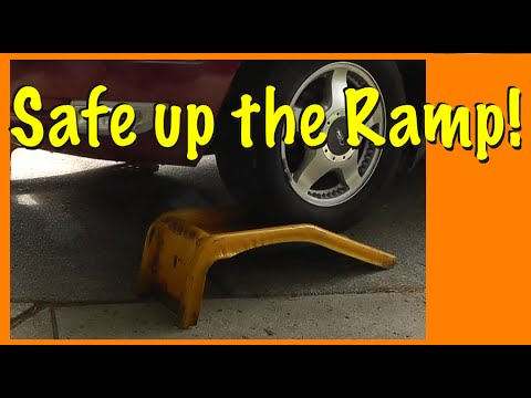 How to SAFELY drive up a Car Ramp
