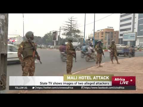 Mali's State TV shows images of two alleged attackers