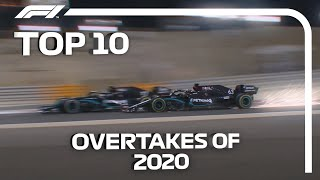 Top 10 Overtakes of the 2020 F1 Season