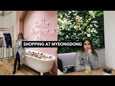 Shopping in Korea Myeongdong  (Stylenanda Pink Hotel & Innisfree Café)