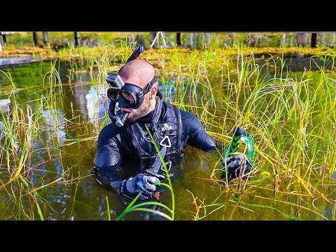 Treasure Hunting in SNAKE infested Lake!! (Secret Treasure)