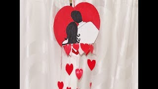 How to make Cute Couple Wall Hanging Decor - Paper crafts