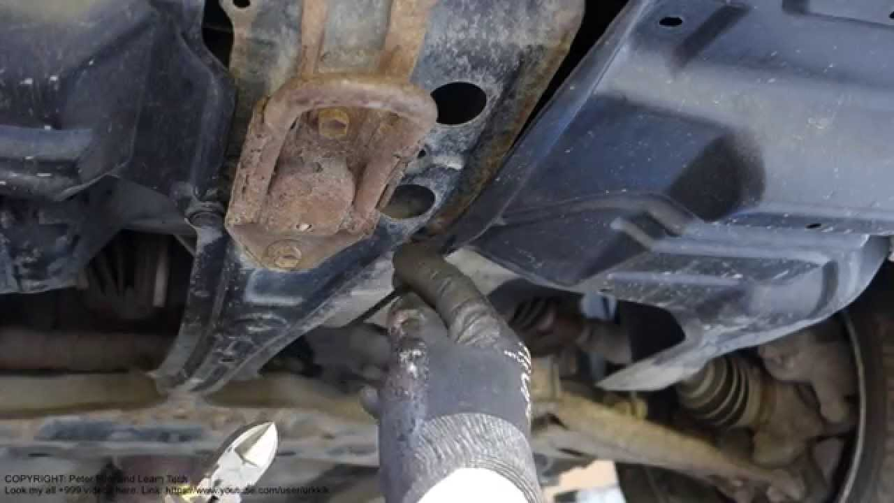How to repair broken engine below plastic cover panel. Toyota Corolla years 2002 to 2010 - YouTube