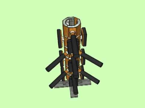 The new version wooden dummy design by