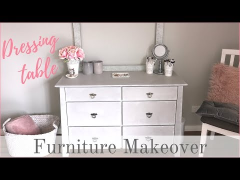 FURNITURE MAKEOVER | French Country Dressing Table (Chalkpaint & Ragging Paint Technique)