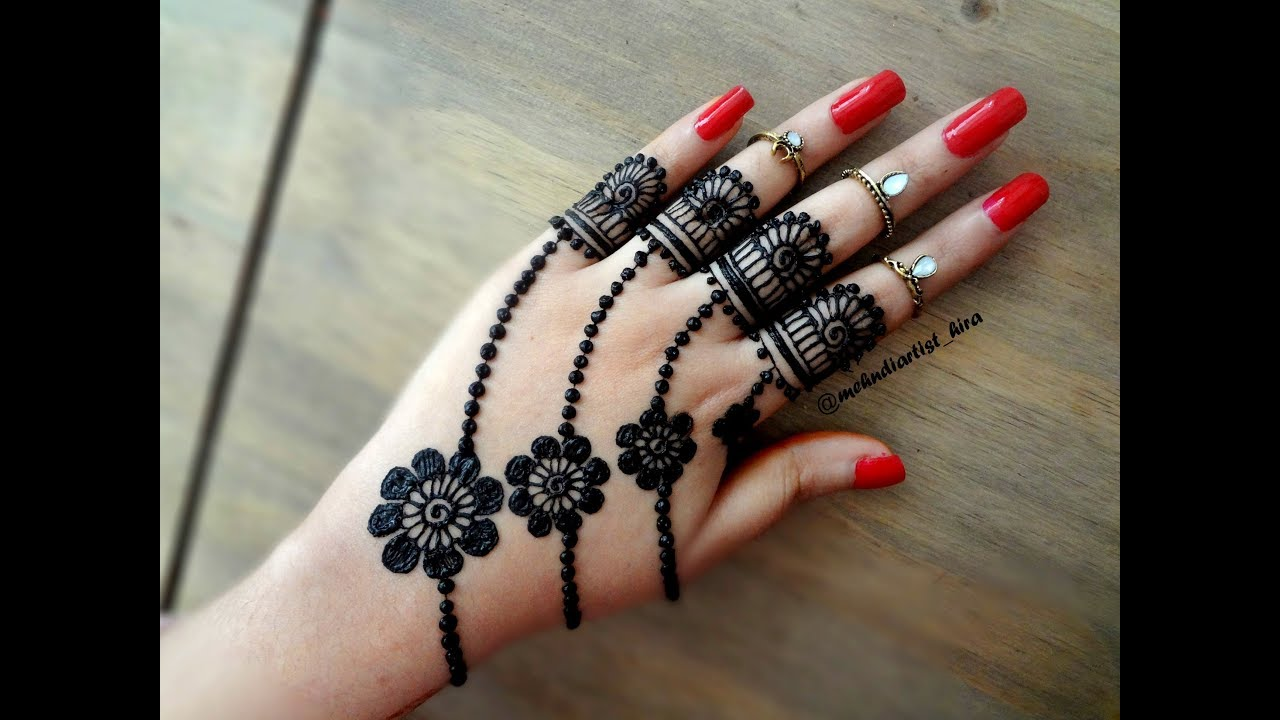 Beautiful Trendy Simple Easy Henna Mehndi Design For Hands For Eid