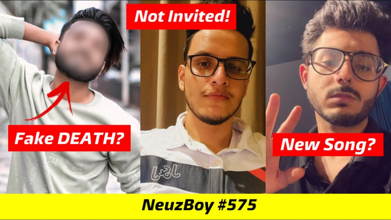 This Guy Faked His Own DEATH?, Triggered Insaan on Not Invited by YouTube Fanfest, CarryMinati