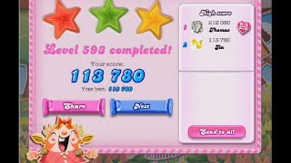 Candy Crush Saga Level 593 ★★★ NO BOOSTER