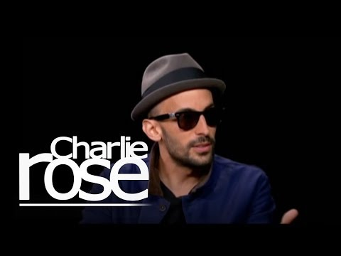 JR appears on Charlie Rose, talks about his artistic process
