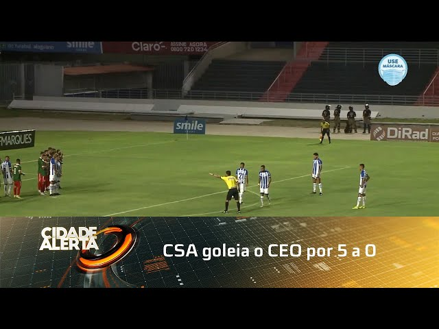 Futebol: CSA goleia o CEO por 5 a 0
