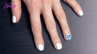 Дизайн ногтей «Гжель»