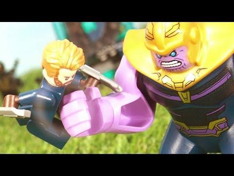 Avengers Infinity War Captain America Black Widow War of Wakanda fight scene Lego Stop Motion thumbnail