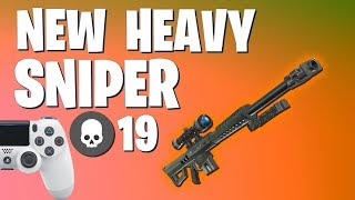 *NEW SNIPER IS AMAZING* Fortnite Battle Royale Heavy Sniper Gameplay (Solo VS Squad)