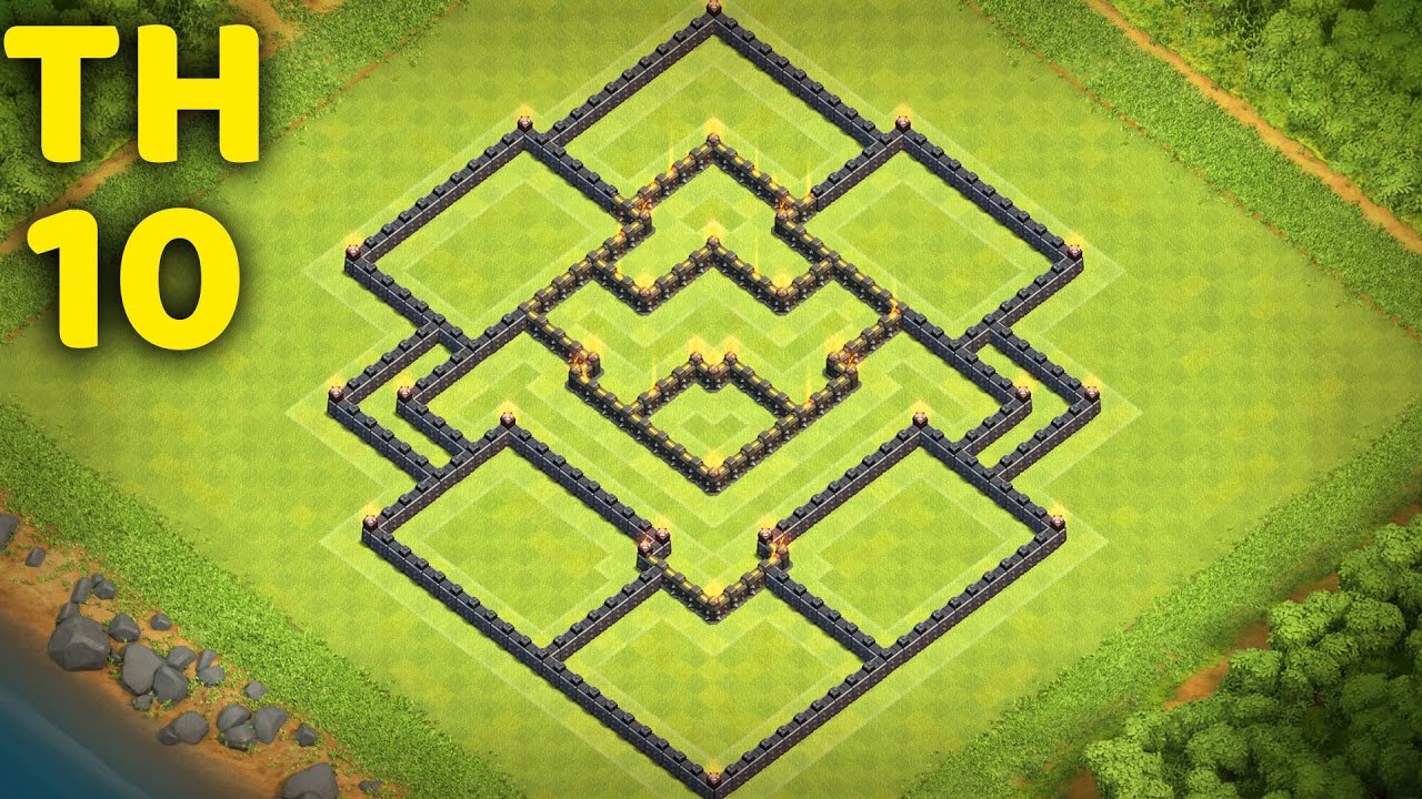 Town Hall 10 Farming Base layout Clash of Clans (CoC TH10)