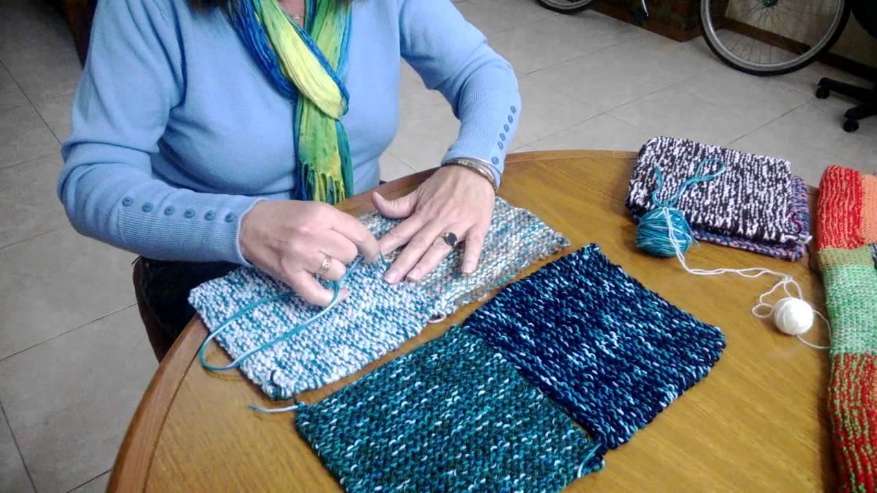 C mo armar una manta de cuadrados tejidos youtube - Como hacer una manta de lana para el sofa ...