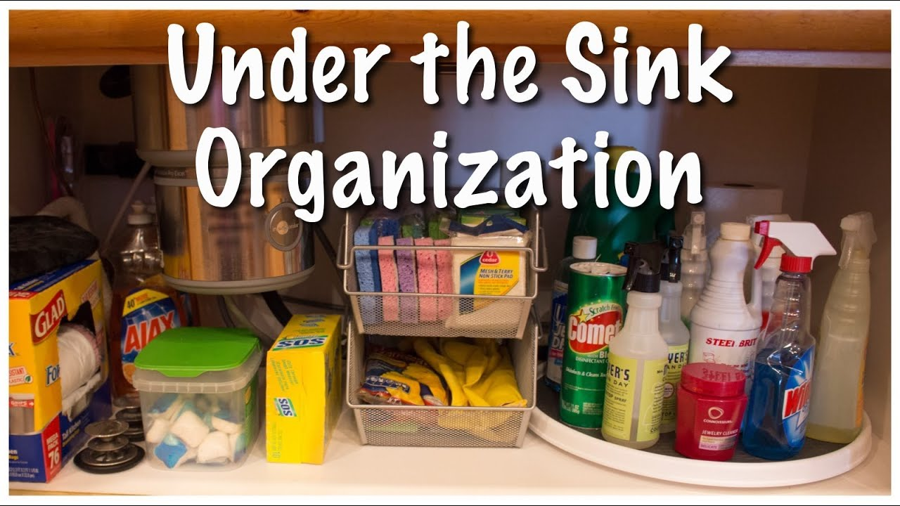 Under the Sink Organization (Kitchen Series 2013) - YouTube
