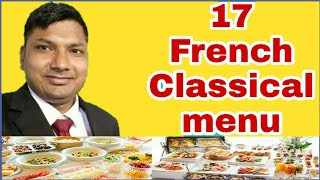 17 french classical menu list!!Name of french classical menu!!Ashok kumar!!Hindi!!