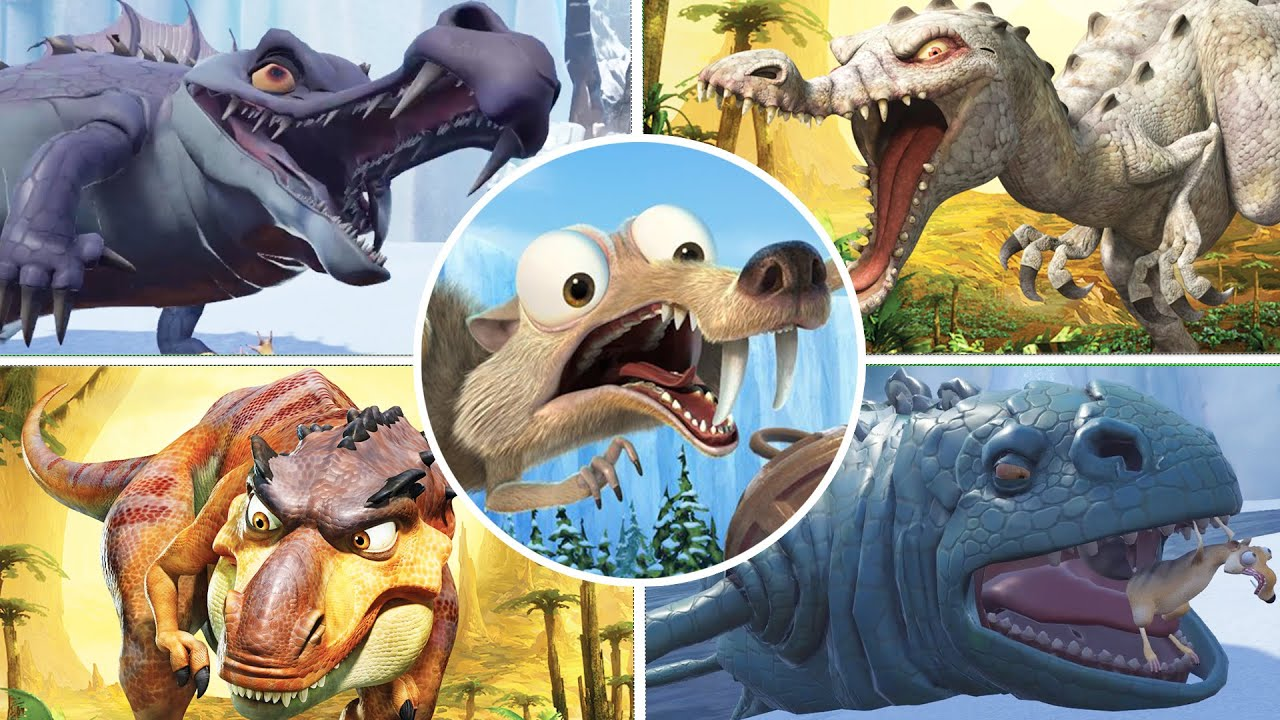 Download Ice Age Scrat's Nutty Adventure & Dawn of the Dinosaurs All Bosses (No Damage)