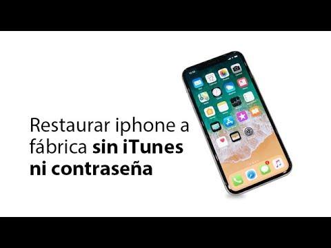Restaurar Iphone A Valores De Fábrica Sin  ITunes Ni Contraseña 2020