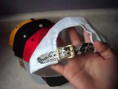 Custom Snakeskin Strap Back Hats - A SCOTT CO - YouTube 614e01ae7c0