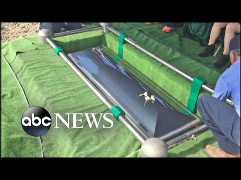 Family Horrified by Dropped Casket