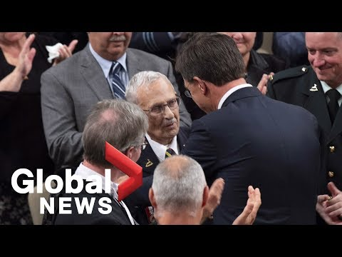 Dutch PM Rutte honours WWII veteran Don White during address to Canadian Parliament