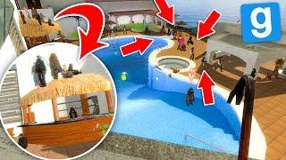 Gmod ITA - Un Resort pieno di persone sospette! (Nascondino)