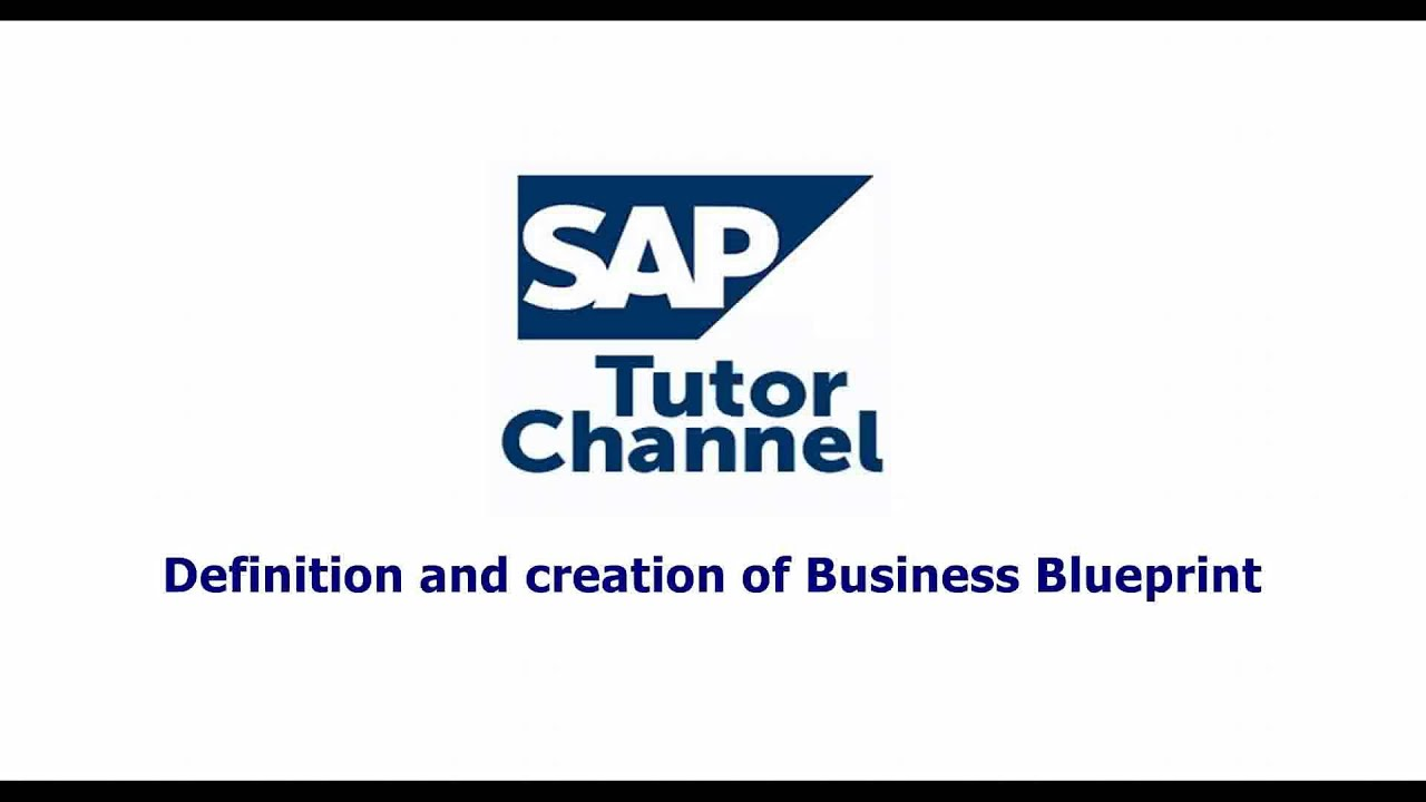 Definition and creation of business blueprint youtube malvernweather Images