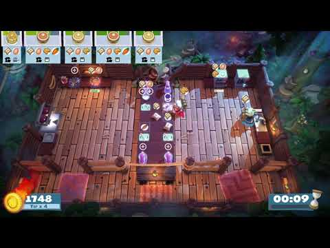 Overcooked! All You Can Eat Campfire Cook Off 3-1 4 Stars |