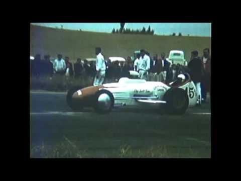 1959 RIVERSIDE RACEWAY art chrisman pits and smoking single