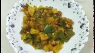 3-Minute Capsicum Potato Fry: Shimla Mirch Aloo Sabzi
