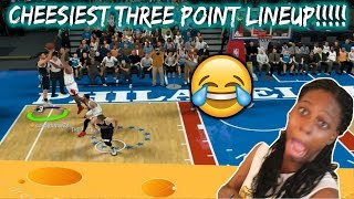 TROLLING MY FRIEND WITH THE CHEESIEST 3PT LINEUP IN MYTEAM! - NBA 2k17