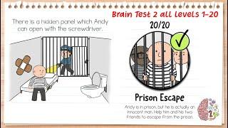 Brain Test 2 Tricky Stories Prison Escape All Levels 1-20 Solution Walkthrough