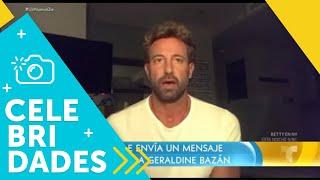 ¡Gabriel Soto le pide perdón a Geraldine Bazán frente a cámara!   Un Nuevo Día   Telemundo