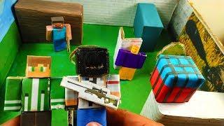 Cardboard game PUBG - roblox vs minecraft, who is best??. DIY animation