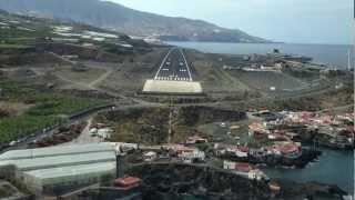 Cockpit Approach and Landing Boeing 737-800 Transavia La Palma Canary Islands ( co-pilot..)