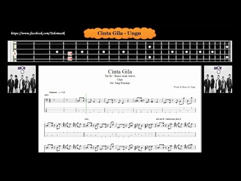 Bass - Cinta Gila - Ungu ( Tab Bass Cover )