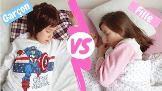 Garçon vs fille Morning routine BACK TO SCHOOL //KIARA'S TOYS 😂🌷