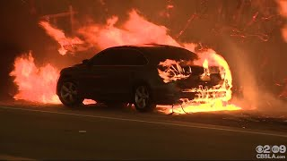 CBS2 Reporter Forced To Move After Flames Engulf Car In Malibu
