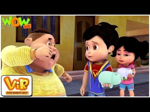 Piggy Bank - Vir : The Robot Boy WITH ENGLISH, SPANISH & FRENCH SUBTITLES