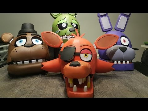 CABEZAS GIGANTES DE FIVE NIGHTS AT FREDDY'S - ( Fnaf Cosplay Heads )