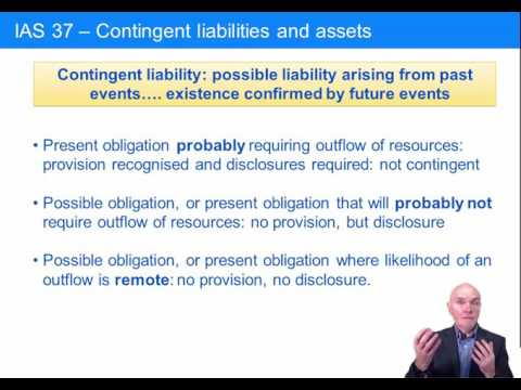ACCA F8 Contingent Assets and Liabilities