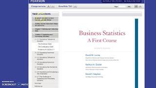 MyStatLab eBook Access (HTML Version)