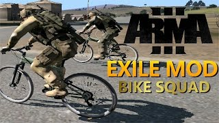 Arma 3 Exile Mod - BICYCLE SQUAD!(High loot,singing,XM8 tablet,trolling)
