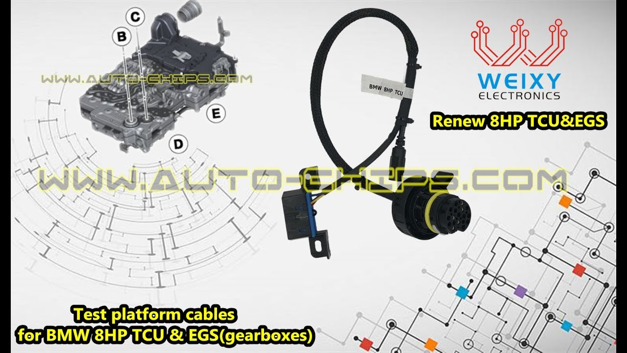 test platform cables for bmw 8hp tcu & egs(gearboxes) by www auto-chips com