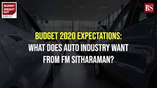 Budget 2020 expectations: What does auto industry want from FM Sitharaman?