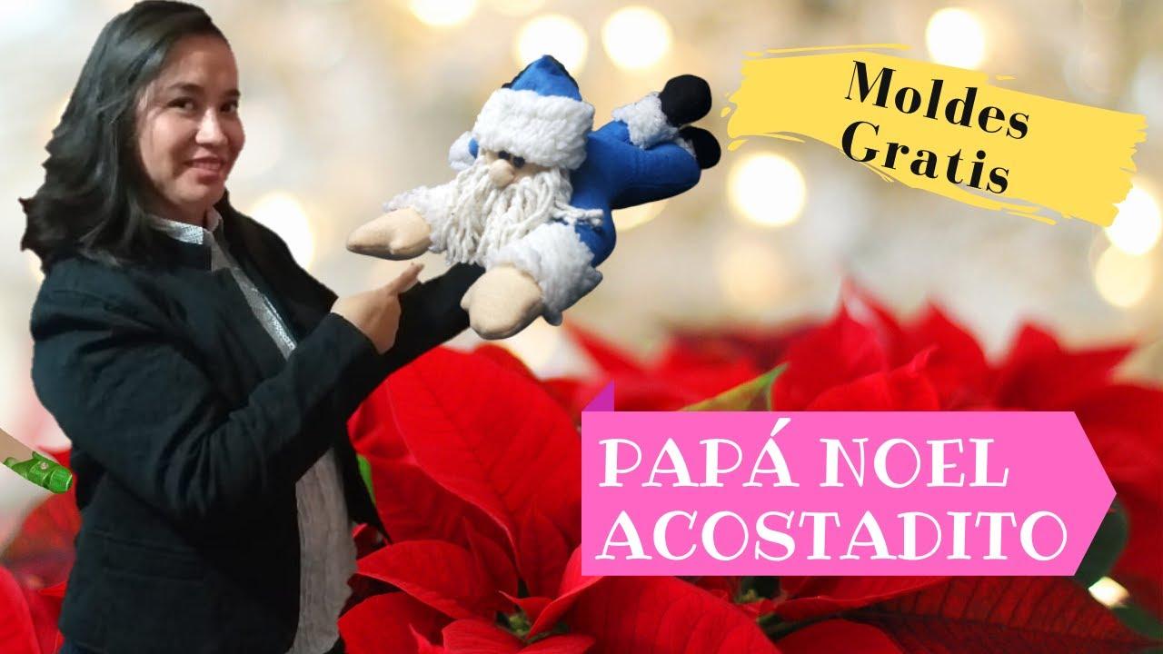 Tutorial de Como Hacer un Papá Noel Acostado Con Moldes Gratis