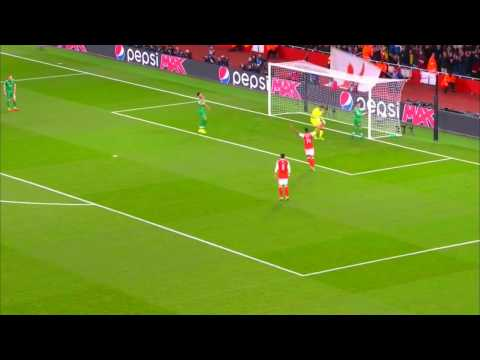 Alexis Sanchez Amazing Chip Goal vs Ludogorets 2016.10.19